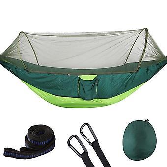 Camping Hängematte mit Moskitonetz Pop-up Licht tragbare Outdoor-Fallschirm