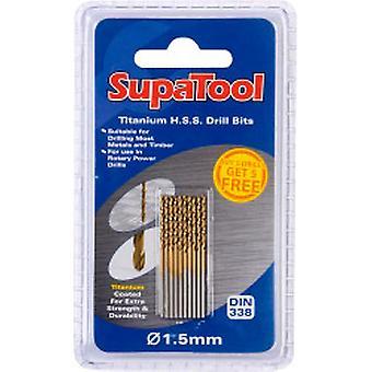 SupaTool Titanyum Kaplı HSS Matkap Uçları 3x61mm 10 Adet