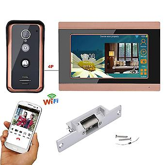 7 Inch Wired Wifi Video Door Phone / Bell Intercom Entry System