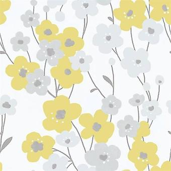 Tempo Poppy Yellow Wallpaper