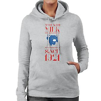 The Laughing Cow Made With Milk Since 1921 Women's Hooded Sweatshirt