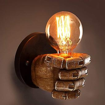 Retro Wall Lamp Industrial Personality Wind Restaurant Bar Café Fist Resin Room Room Decoration Creative Wall Lamp