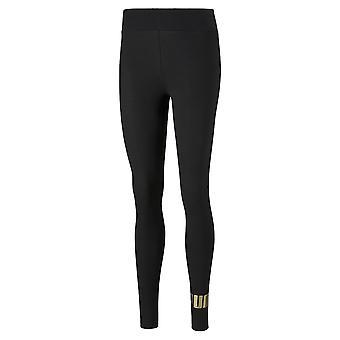 Puma Essential + Metallic Naisten Fitness Legging Tiukka Musta/Kulta
