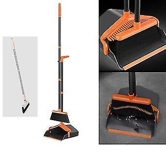 Lange Griff Staubbürste und Besen / Reinigungskombination für Heimküche, Büro (schwarz)