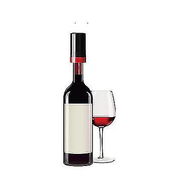 Automatic Vacuum Red Wine Stopper,, Wine Vacuum Fresh-keeping Stopper, Reused(Red)