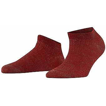 Falke Shiny Rib Sneaker Sokken - Bordeaux