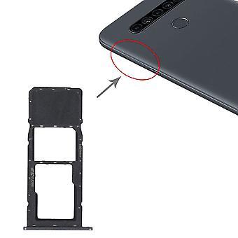 Sim Karten Halter für LG K41S LMK410EMW LM-K410EMW LM-K410 Card Tray Silber Ersatzteil Schlitten Reparatur