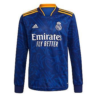 Real Madrid 2021-2022 Langermet Borte skjorte
