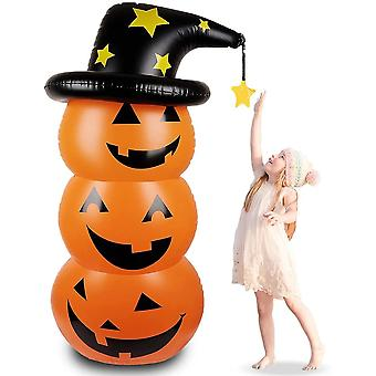 Halloween pumpkin shaped inflatable decorations, party decoration balloons(Yellow)