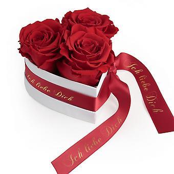 Jag älskar dig Gift Blommor 3 Eternal Roses Red