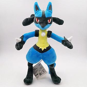 محشوة الحيوانات 30cm بوكيمون lucario أفخم دمية محشوة لطيف ميجا peluche لعبة هدية للأطفال