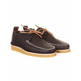 Yogi Footwear Lawson Leather Moccasin Shoes - Dark Brown