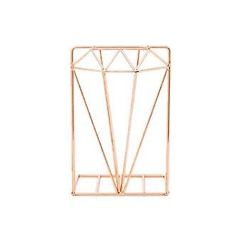 Creative Diamond muotoiltu metallinen bookends desk järjestäjä kirja tukiteline säilytysteline