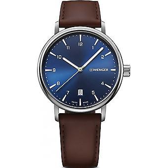 Wenger Brown Genuine Leather 01.1731.123 Reloj de hombre