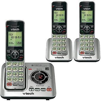 טלפונים לוויניים cs6629-3 dect 6.0 טלפון אלחוטי ניתן להרחבה עם מערכת מענה ומתקשר מזהה / שיחה מחכה כסף