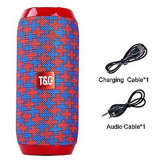 Tragbarer Bluetooth-Lautsprecher Wireless Bass Subwoofer Wasserdichte Außenlautsprecher Boombox Aux Tf Usb Stereo Lautsprecher Music Box