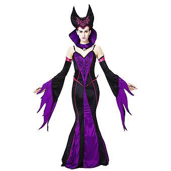Uniforme de cosplay Maléfique Dark Queen, costume de fête de bal de la reine, costume de cosplay de scène