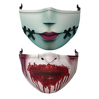 Halloween Print Máscaras Moda Multi Diseños