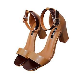 Sandales sont à la mode, polyvalent Chunky et Fées Talons