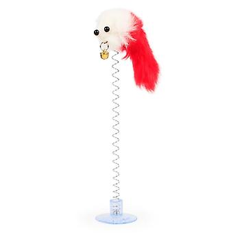 4pcs Fitting Cat Spring Toy Spring Feathers, Mouse, Dog With Cat Interactive Tool Elastic Toy