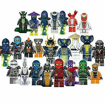 24 Stück Ninjago Figuren Kai Jay Minfiguren Bausteine Spielzeug Geschenk-1