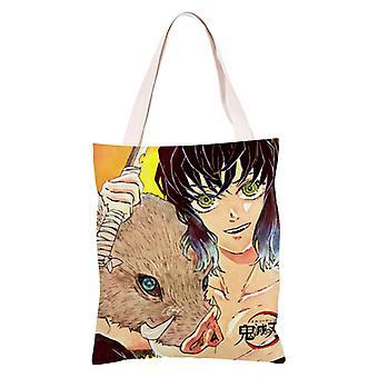الكرتون أنيمي قماش التسوق حقيبة حمل، شيطان القاتل #18