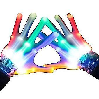 Geschenke für 7-12 Jahre jungen Mädchen Teen, Led Light Up Handschuhe für Kinder