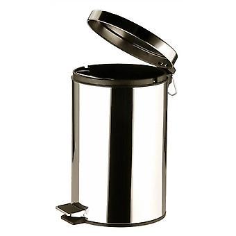 12 L ステンレス製ペダル式ゴミ箱