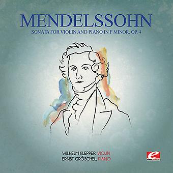フェリックス ・ メンデルス ゾーン - メンデルス ゾーン: ソナタ ヘ短調 [CD] USA 輸入でヴァイオリン ・ ピアノのための