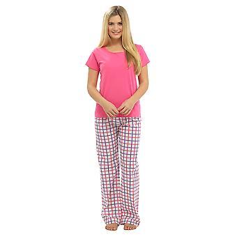 Ladies Tom Franks Floral Print Jersey T Shirt Top & Long Pyjama Set Sleepwear