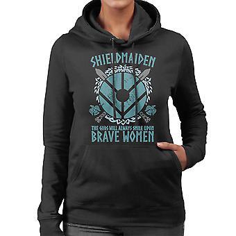 Vikings Shield Maiden Brave Women Women's Hooded Sweatshirt