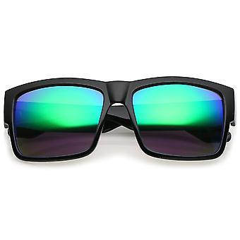 شقة أعلى القرن في الرجال انعقدت النظارات الشمسية مع عدسة مرآة ساحة الأسلحة سميكة 57 مم