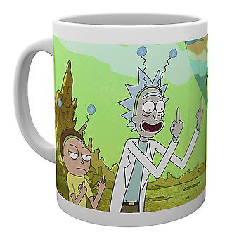 Rick und Morty Frieden Becher
