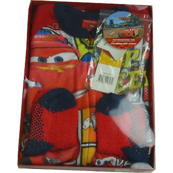 Drenge Disney Cars Lightning McQueen Fleece søvngænger Sleepsuit med sokker i boks