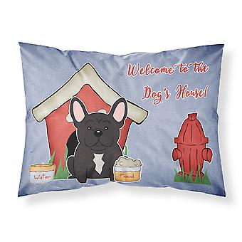 Dog House Collection French Bulldog Brindle Fabric Standard Pillowcase