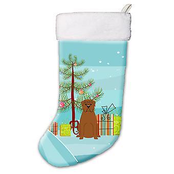 Merry Christmas Tree Dogue de Bourdeaux Christmas Stocking