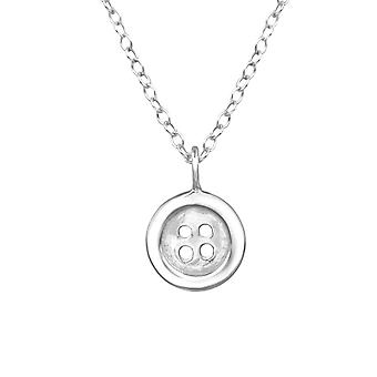 Button - 925 Sterling Silver Necklaces - W30928X