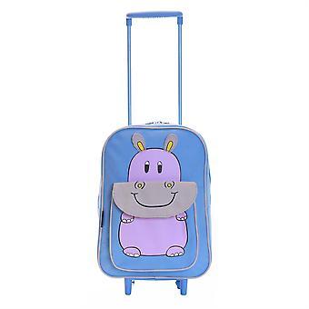 Karabar Wildlife Hippo Kids Trolley tas, blauw