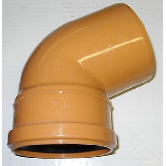 Tubi e raccordi 67,5 gradi Bend 110mm Inlet - Push Fit - Brown - Underground - rifiuti