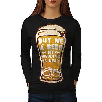 Beer Wedding Party Women BlackLong Sleeve T-shirt | Wellcoda