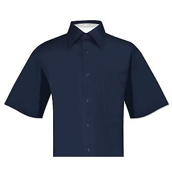 Biagio 100 % Baumwolle Herren kurzarm Solid Kleid Shirt