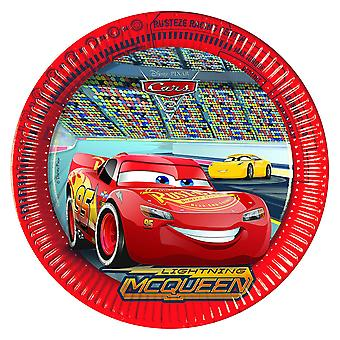 Vassoio del partito piastra di auto piastra 3 ragazzi festa compleanno 23 cm diametro 8 pezzi
