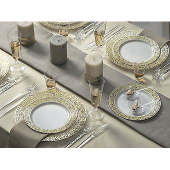 Party tableware romantic set for 6 guests 66-teilig party package white gold party package