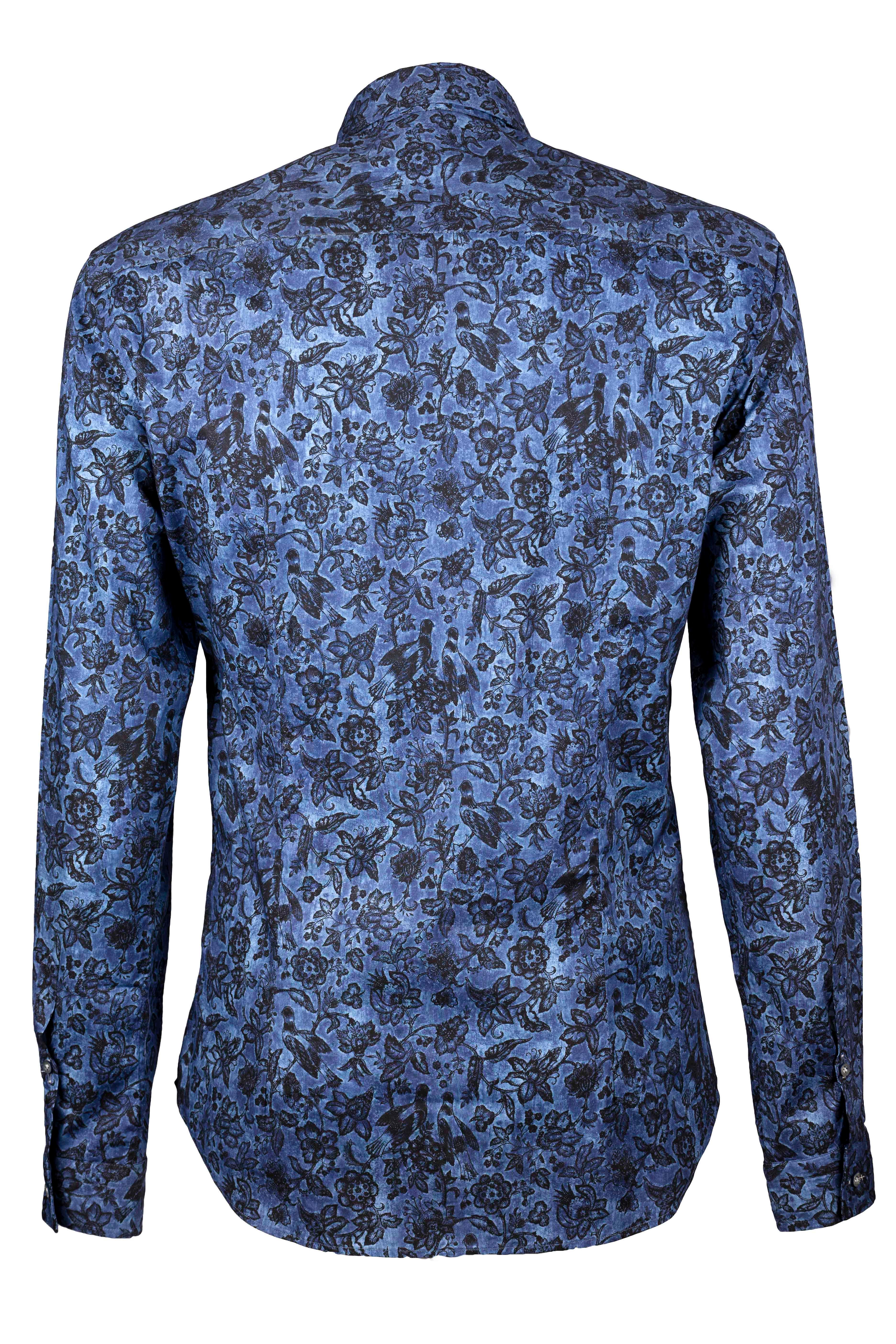 Fabio Giovanni Fucito Shirt - Mens Italian Floral Casual Shirt - Long Sleeve