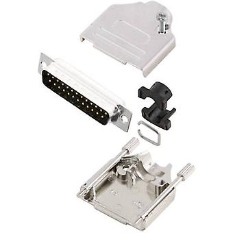 Tira de pin MH MHDTZK25-DB25P-K de conectores D-SUB conjunto 180 ° número de pernos: 25 soldadura cubo 1 PC