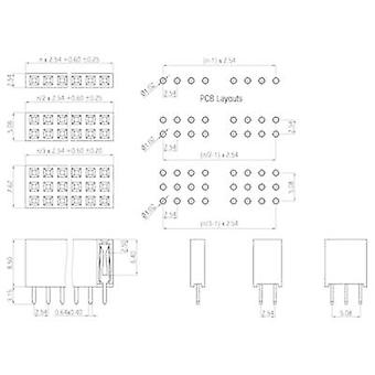 W & P Products Receptacles (standard) No. of rows: 2 Pins per row: 3 157-06-2-00 1 pc(s)