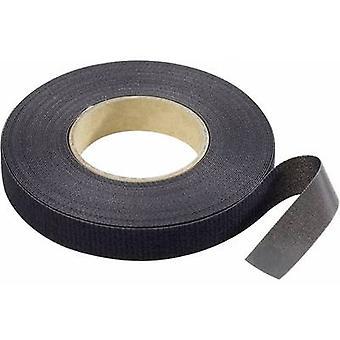 Fita do gancho-e-laço da faixa da pasta para empacotar o gancho e a almofada de laço (L x W) 10000 milímetros x 16 milímetros preto 10 m