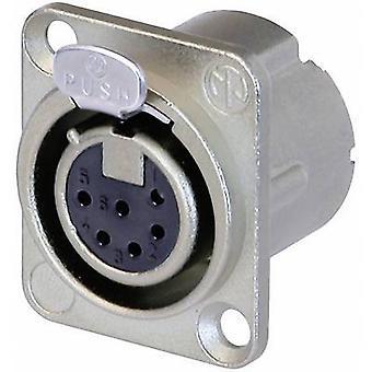 Neutrik NC6FD-LX XLR stik ærme socket, lige ben antal stifter: 6 sølv 1 computer(e)