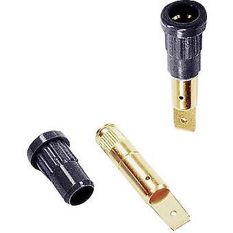 Stäubli EB4 Jack el enchufe, diámetro de perno vertical vertical: 4 mm negro 1 PC
