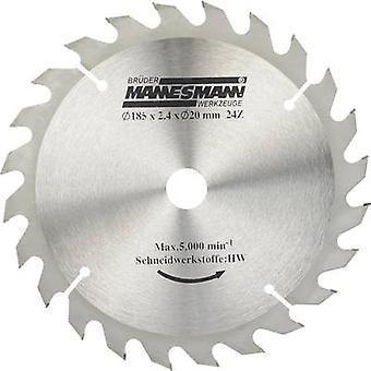 Brüder Mannesmann 12897 Carbide metal circular saw blade 185 x 20 x 2.4 mm Number of cogs: 24 1 pc(s)